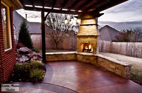 Pergola With Fireplace Outdoor Goods