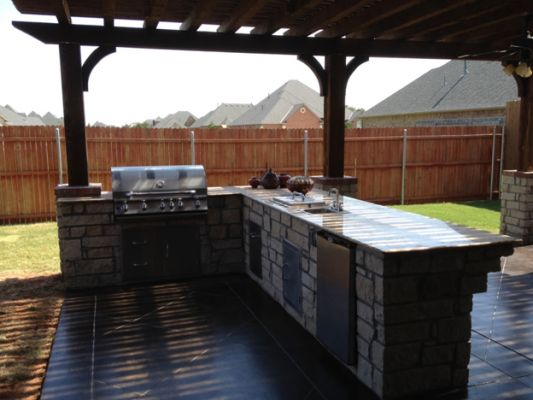 Outdoor Kitchen Fireplaces