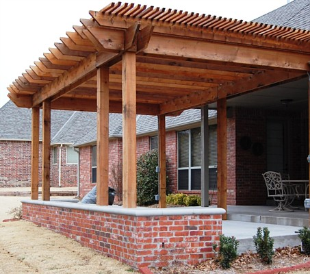 Brick Bench, Pergola And Patio Extension